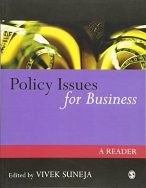 Policy Issues for Business: A Reader by Vivek Suneja - 0761974156